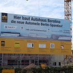 Berolina Spandau-Baustelle mit Schild